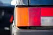 car rear brake light close up