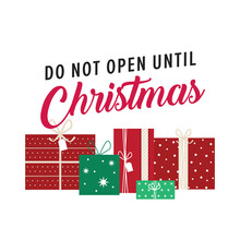 Christmas Gift Tag, Do Not Ope...