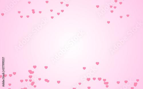 Valentine day pink hearts on pink background. © Koy