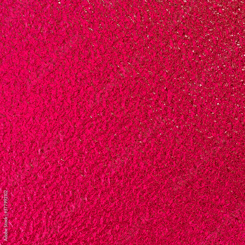 Red shiny foil paper texture background. Canvas Print