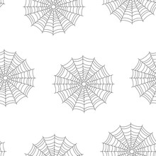 Seamless Spider Web Pattern Is...