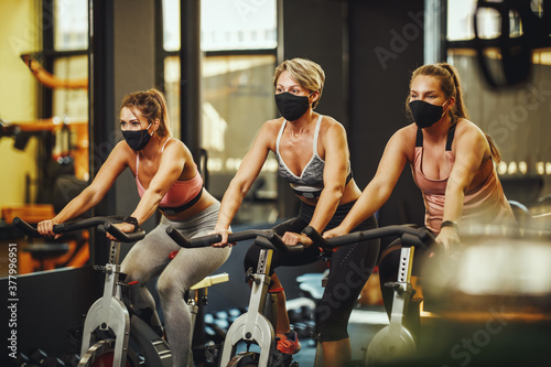 Fotografie, Tablou Workout In Gym After Pandemic