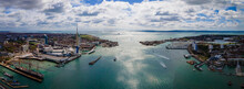 Aerial View Of Portsmouth In Summer Day