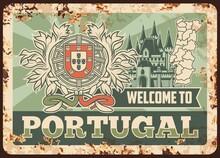 Portugal Rusty Metal Plate, Ve...