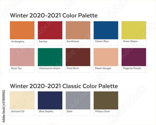 Valokuvatapetti Autumn Winter 2020 - 2021 Color Palette Example