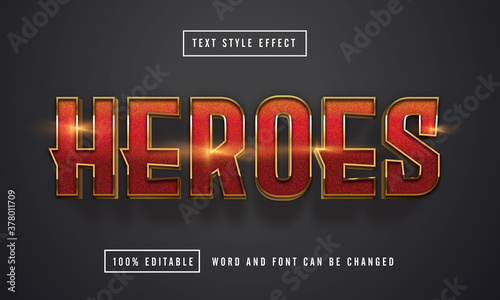 Fototapeta Heroes text effect editable premium download obraz