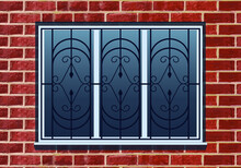 Vector Window Grill Design Pattern Motif Lattice. Vector Art