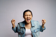 Asian Woman Angry And Shouting...