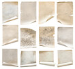 canvas print picture old papers set isolated