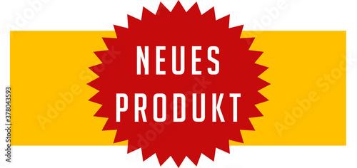 Fotografie, Obraz Neues Produkt web Sticker Button