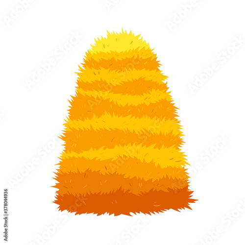 Fotografie, Tablou Haystack isolated on white background
