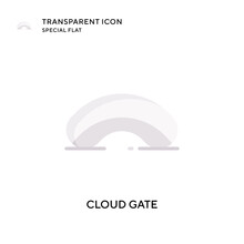 Cloud Gate Vector Icon. Flat S...