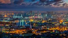 Cityscape Of Bangkok City With...