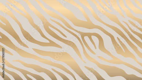 Luxury Gold animal skin background vector. Exotic animal skin with golden texture. Leopard skin, zebra and tiger skin vector illustration.
