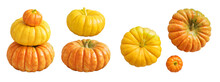 Natural Pumpkin Isolated On Wh...