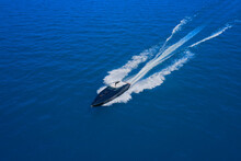 Speed Boat Movement At High Sp...