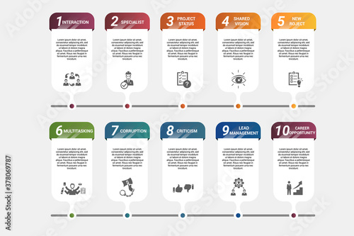 Fotografie, Obraz Infographic Management template