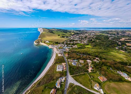 Obraz na płótnie Aerial panoramic view of Isle of WIght