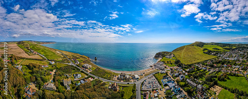 Fotografia Aerial panoramic view of Isle of WIght