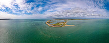 Aerial Panoramic View Of The Needles Of Solent