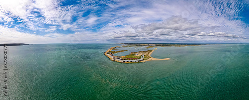 Fotografie, Obraz Aerial panoramic view of the Needles of Solent