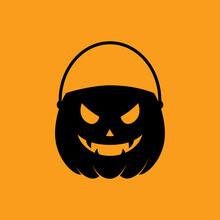 Feliz Halloween. Silueta De Cu...