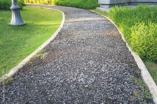 Fotomural Walkway and bush in garden