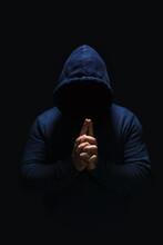 Man In Dark Blue Hoodie, Face ...