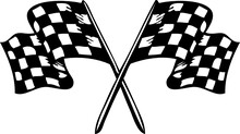 Racing Finish Checkered Flag Svg Vector Cut File For Cricut And Silhouette
