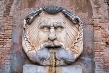 Detail Of Fountain In Rome Ita...