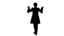 Silhouette Man Dressed Like Mo...