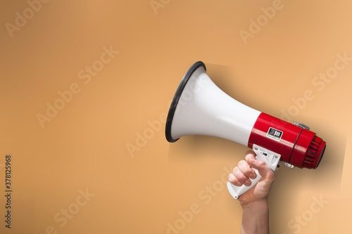 Tableau sur Toile Human hand hold the classic megaphone