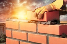 Bricklayer Build Cement Masonr...