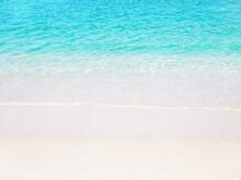 White Sandy Beach Washing By T...