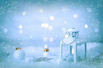 Lanterna e decorazioni del Natale