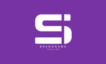 Alphabet Letters Initials Monogram Logo SI, IS, S And I