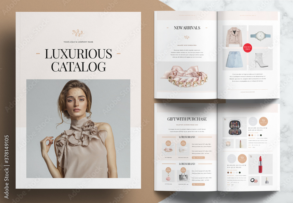 Fototapeta Product Catalog Layout
