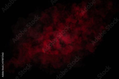 Foto 3d red color splash on abstract black background