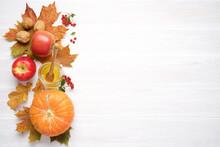 Bright Autumn Leaves, Walnuts,...