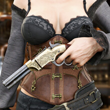 Sexy Western Saloon Girl Poses...