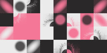 Abstract Geometric Vector Pattern With Transition Effect