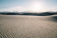 Desert Landscape In Rays Of Sun