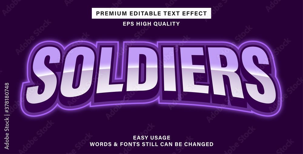 Fototapeta Premium editable text effect esport soldiers