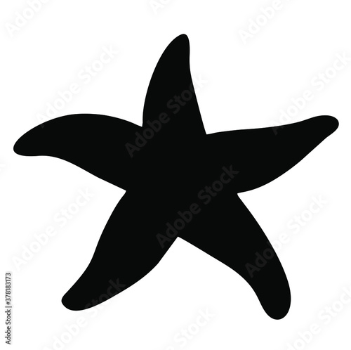 Vector image of a starfish Canvas Print