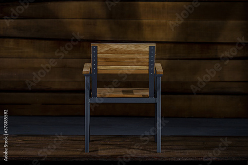 Closeup of a loft-style chair with armrests Canvas Print