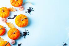 Halloween Flat Lay Background