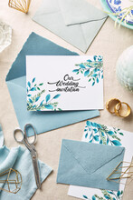 Wedding Invitation With Envelo...
