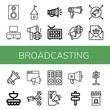 broadcasting simple icons set