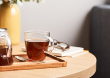 Fresh Tea On Table In Peaceful...