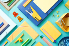 Set Of Colorful Stationery And...